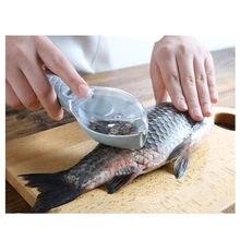 Ferramentas Escova Raspagem Da Pele Dos Peixes de Pesca Escala Escova Raladores Rápido Remover A faca de Peixe Limpeza Peeler Scaler ScraperKitchen Ferramenta