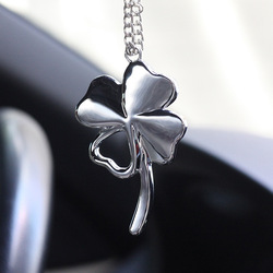 Car Pendant Metal Lucky Clover Auto Rear View Mirror Decoration Hanging Pendant Automobile Decor Suspension Ornaments Gifts