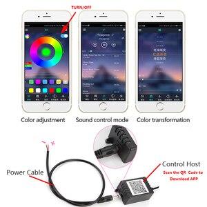 Image 4 - EL 와이어 RGB Led 자동차 인테리어 APP 사운드 제어 모드 분위기 네온 스트립 다채로운 주변 조명 장식 램프