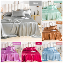 2020 Hot sale Flat Ned sheet 18 colors flat sheet Satin for twin bed luxury silk