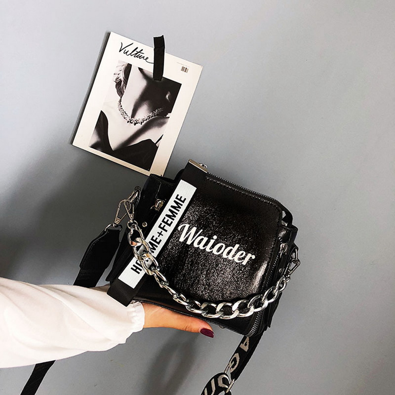 Women Fashion Handle Satchel PU Leather Handbags Purse 2020 New Ladies Small Square Bag Shoulder Bag With Hairball