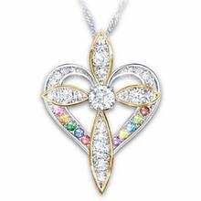 Женское Ожерелье с крестом роскошное ожерелье цирконом романтичное