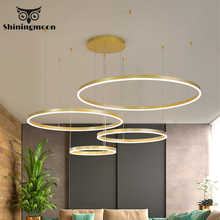 French Luxury Bedroom Chandelier Lighting Modern Led Round Acrylic Hanging Lamp Living Room Kitchen Lights