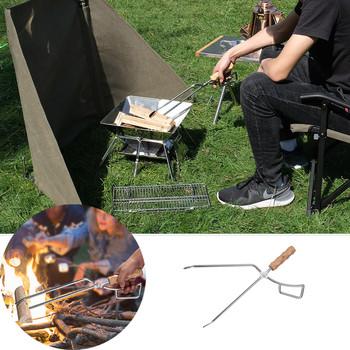 Węgiel drzewny nożyce drewno opałowe nożyce ogień nożyce narzędzie do grillowania szczypce do węgla drzewnego dla grill na świeżym powietrzu klip na zewnątrz szczypce ze stali nierdzewnej narzędzie tanie i dobre opinie CN (pochodzenie) kieszonkowe narzędzia uniwersalne