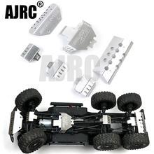 Trx 6 de metal para coche a control remoto, armadura del chasis del parachoques G63, placa de protección de deslizamiento para Traxxass TRX 4 G500 2013 4