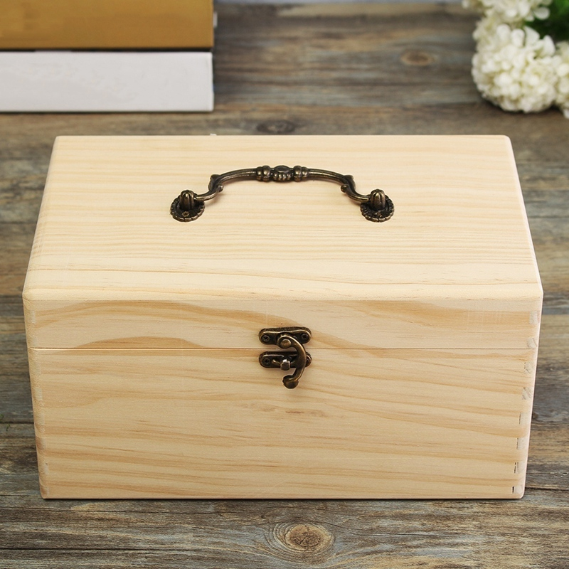 32 Slots Portable Storage Box Organizer Wooden Essential Oil Box For 15Ml Bottles Storage Case Organizer With Handle