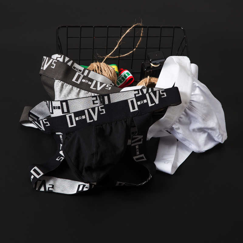 Seksi eşcinsel iç çamaşırı erkek Tanga Jockstrap pamuk nefes erkek Bikini Thongs g-dizeleri Sissy külot dize iç çamaşırı Tanga OR211