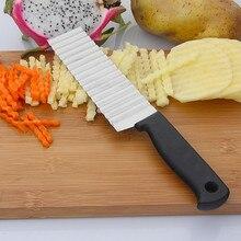 Nuevo cortador de patatas fritas de acero inoxidable, cortador de frutas y vegetales, cortador ondulado, cortador de patatas, cortador de patatas, fabricante de patatas fritas