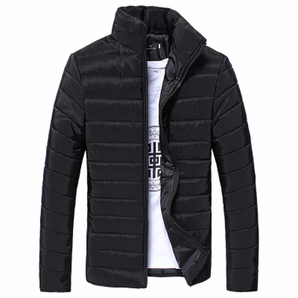 남성 자켓 2020 캐주얼 코튼 스탠드 지퍼 자켓 따뜻한 겨울 두꺼운 윈드 브레이커 아웃웨어 슬림 남성 코트 자켓 ropa mujer YL5