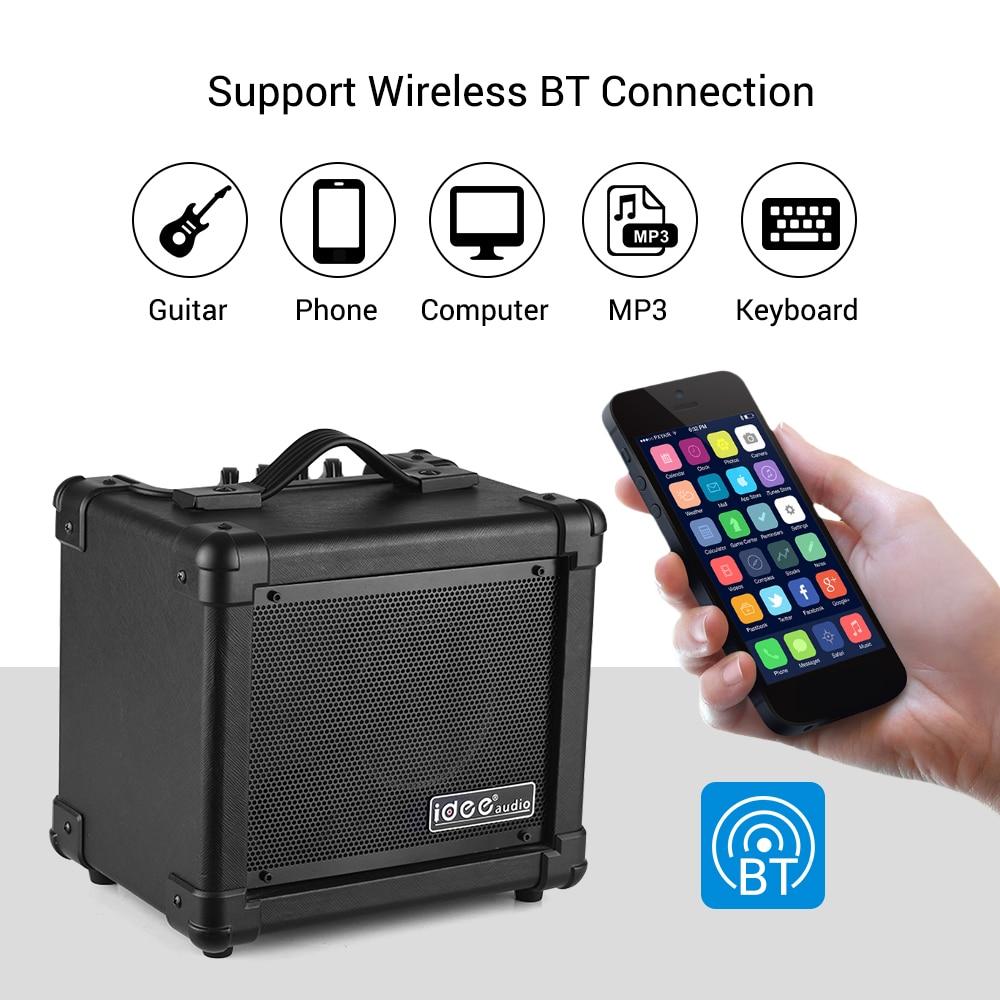 IDEEAUDIO AA-1 Portable bureau guitare électrique haut-parleur amplificateur sans fil BT 10 Watt Combo Amp noir EU Plug