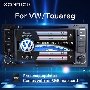 2 din Car radio multimedia For VW Volkswagen Touareg T5 Transporter Multivan T5 gps navigation dvd player head unit stereo Audio(China)