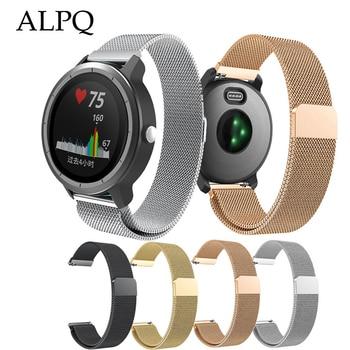 ALPQ 20mm Milanese Wrist Strap Watch Band Replacement Bracelet Watchband Correa For Garmin Vivoactive3 Vivomove HR Forerunner645 - discount item  35% OFF Watches Accessories