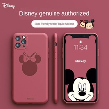 Disney original phone case is suitable for iPhone 6/7/8 plus XR XS Max 11/12 Pro Max/mini couple phone case