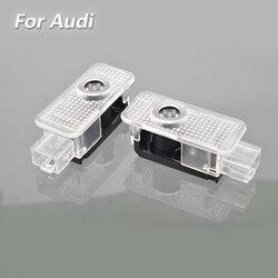 2X Led Logo Audi Cửa Xe Ô Tô Chiếu Cho Xe Audi S3 8V S4 B7 B8 S5 8T S6 c6 C5 C7 S7 S8 D3 D4 SQ3 8U SQ5 8R SQ7 Dòng Quattro