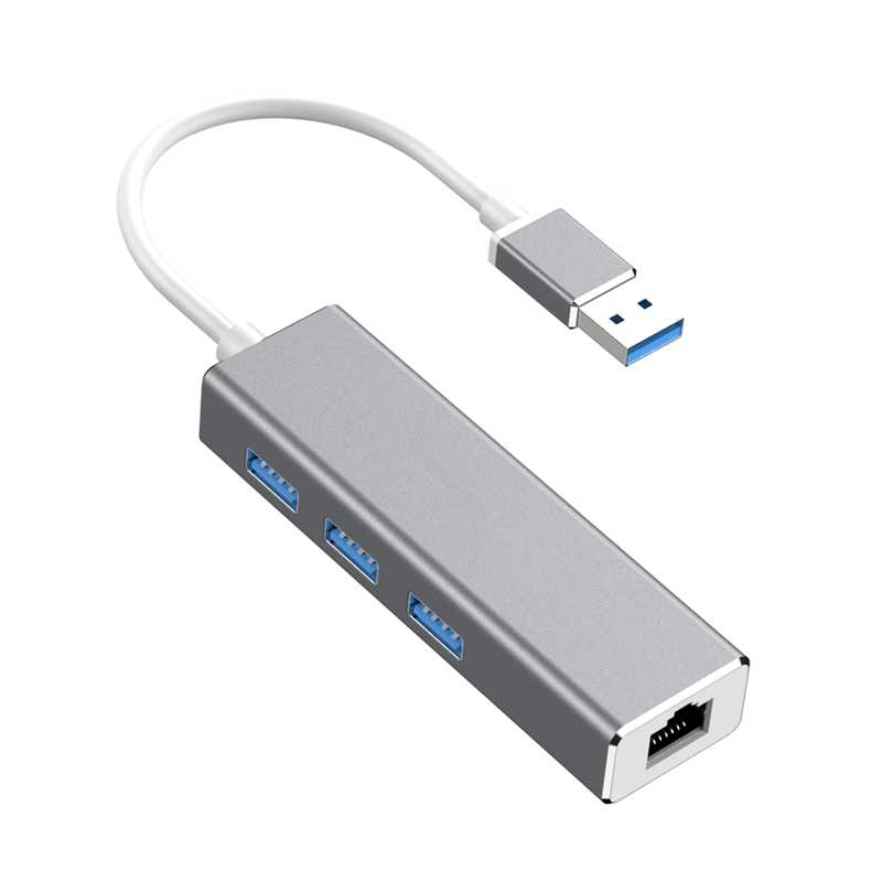 USB Ethernet USB 3,0 a RJ45 Hub 10/100/1000M Ethernet adaptador de tarjeta de red Lan USB para Macbook de Windows