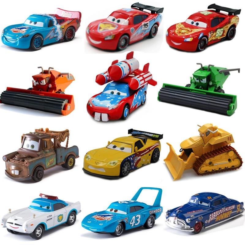 Cars Disney Pixar 2 3 Toys Lightning McQueen Matt Jackson Storm Ramirez 1:55 Alloy Pixar Car Metal Die Casting Car Kid Toy Gift