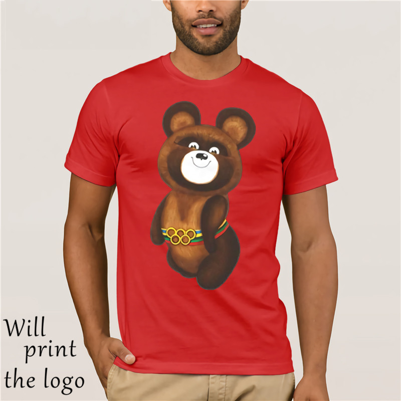 T-shirt Man Fashion Brand Tees Bear Of Ussr Tshirt Men T-shirt Tops Male Top Tees Drop Shipping