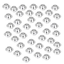 40pc Skateboard Scooter Quad Roller Inline Skate Wheel Bearing Spacers Silver Scooter Parts & Accessories 50mm double roller layers plastic omini track bearing conveyor transfer line robot omni directional skate wheel