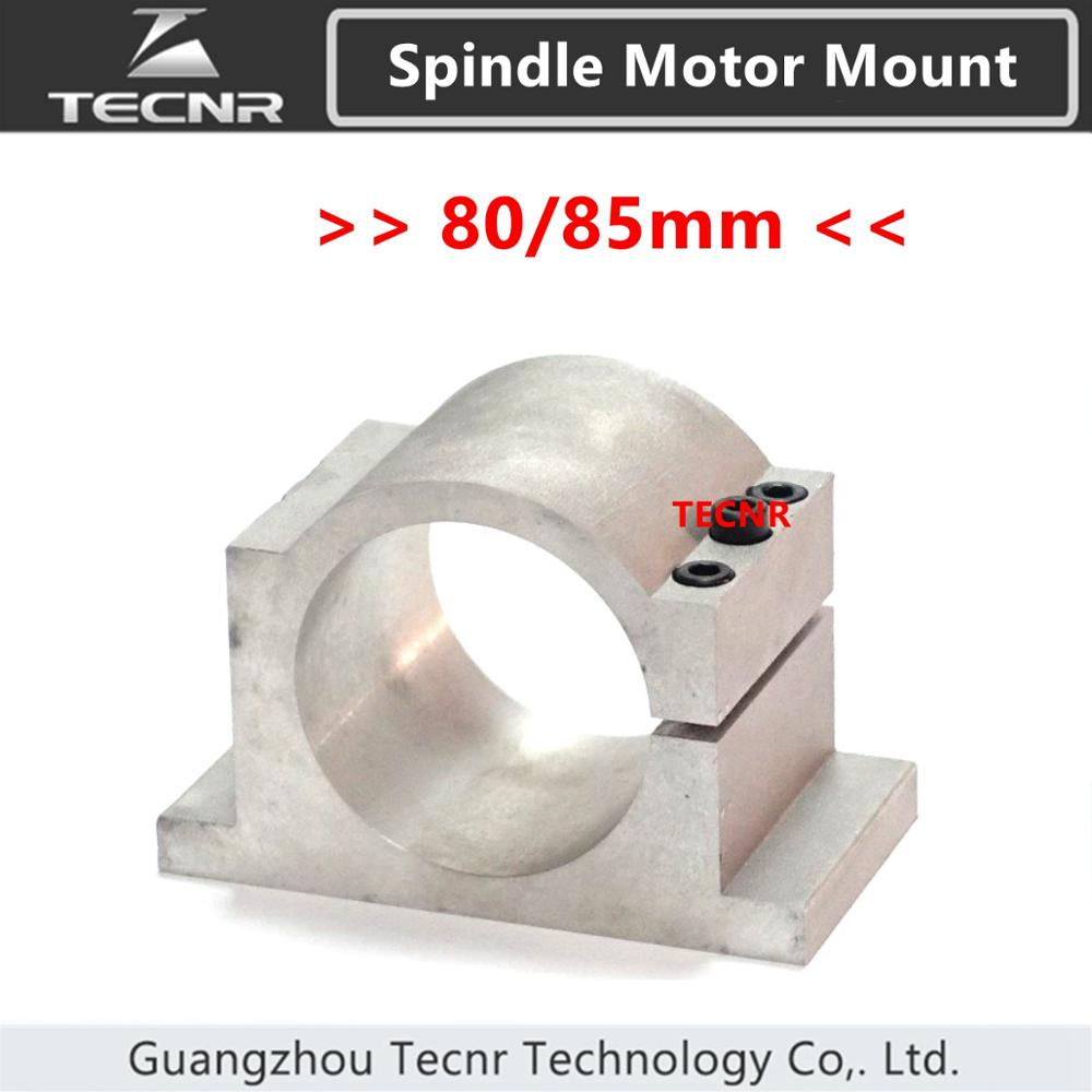Soporte de montaje de accesorio de husillo CNC de 80 mm y 85 mm para motor de husillo de 1.5KW 2.2KW