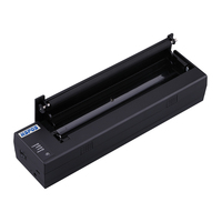 A4 Thermal Printer with Battery Black Gold Silver Color Portable Wifi Printer Support documents printing HS A4PUW