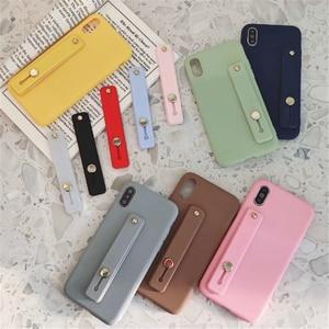 Простой цветной наручный ремешок, держатель для мобильного телефон, универсальная подставка для телефона, держатель для Iphone, Xiaomi