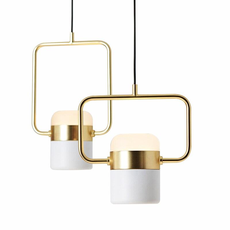 Mesita de noche de dormitorio nórdico metal LED lustre luz colgante moderno minimalista bar restaurante diseñador molecular giratorio lámpara colgante
