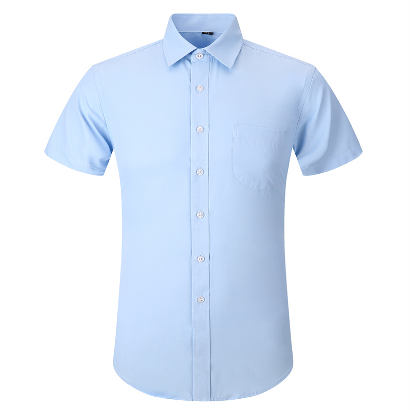 High Quality Dress Men's Summer Short Sleeve Shirt Plus Size 5XL 6XL 7XL 8XL Male Social Regular Fit Casual Shirt Black White