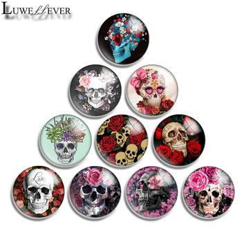 12mm 14mm 16mm 20mm 25mm 30mm 595 Skull Flower Mix Round Glass Cabochon Jewelry Finding 18mm Snap Button Charm Bracelet 10mm 12mm 16mm 20mm 25mm 30mm 542 animal flower mix round glass cabochon jewelry finding 18mm snap button charm bracelet