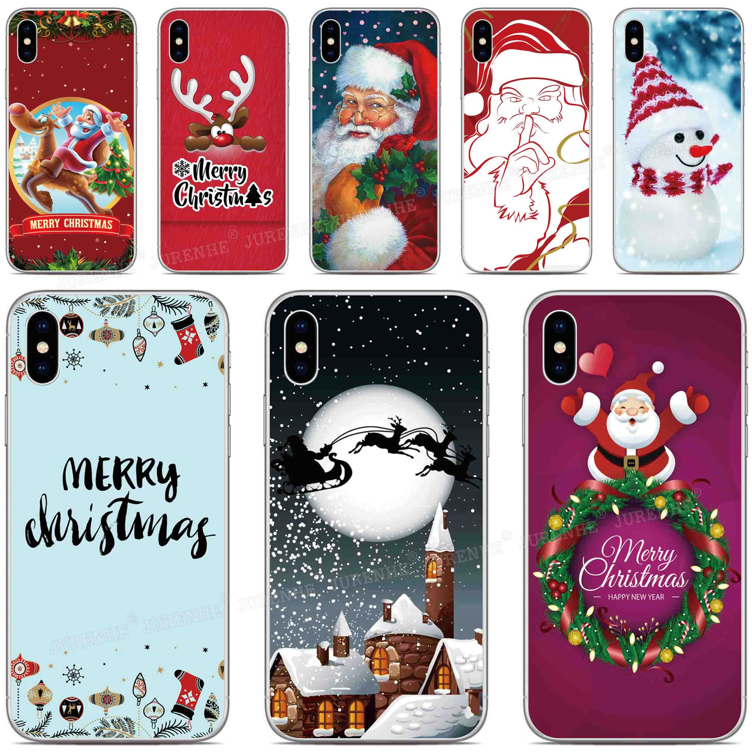 Silicone Merry Christmas Gift Cover For <font><b>Doogee</b></font> X90 X95 N20 Y9 Plus N10 Y7 Y8 Y8C X70 X60 X60L X50 <font><b>X50L</b></font> X30 X55 Mix 2 Phone <font><b>Case</b></font> image
