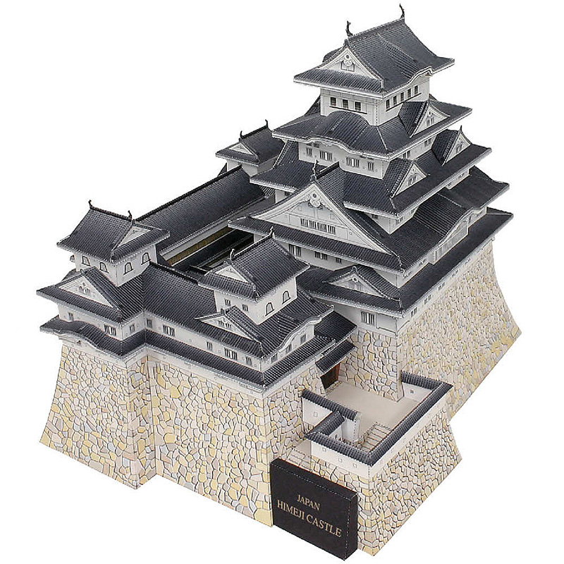 Japan Himeji Castle Folding Cutting Mini 3D Paper Model House Architectural Papercraft DIY Kids Adult Craft Toys QD-185