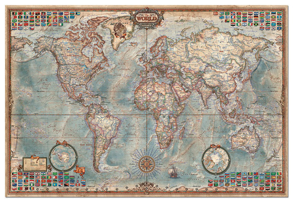 New DIY Assembling World Map Jigsaw Puzzle 1000/1500/200/3000/4000/5000piece Assemble Toy For Gift
