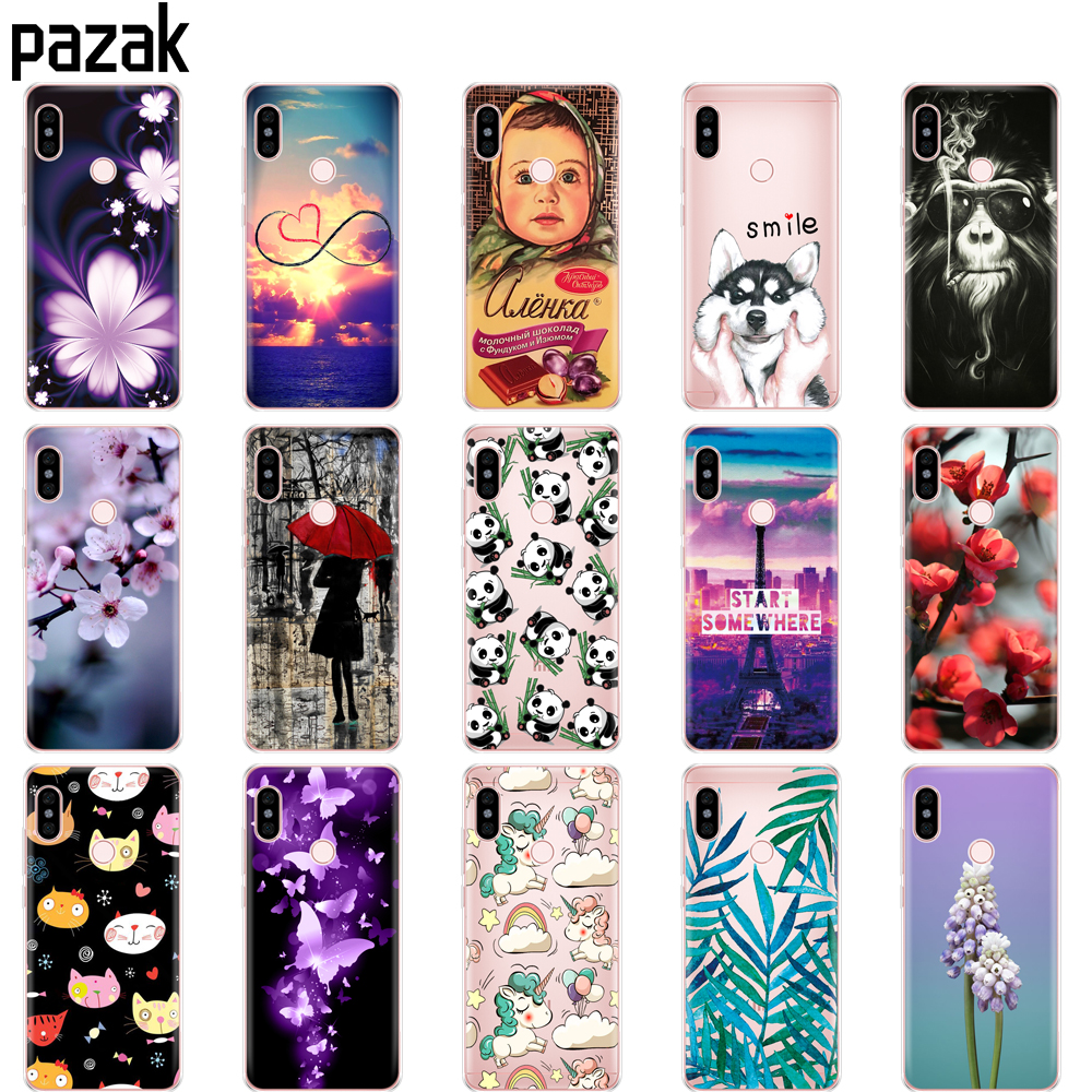 silicone case For Xiaomi Redmi Note 6 Pro Case 6.26'' Soft TPU Back phone Cover For Xiaomi Redmi Note 6 Pro painting protect bag