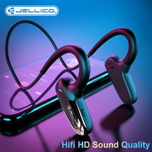 Jellico condução óssea fone de ouvido sem fio bluetooth 5.0 fones estéreo esportes longa espera à prova dwaterproof água
