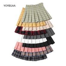Женская юбка с завышенной талией chic плиссированные юбки в