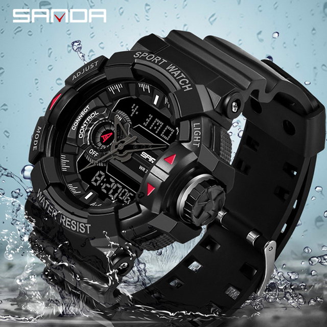 SANDA 599 Military Men's Watch Top Brand Luxury Waterproof Sport Wristwatch Fashion Quartz Clock Male Watch relogio masculino