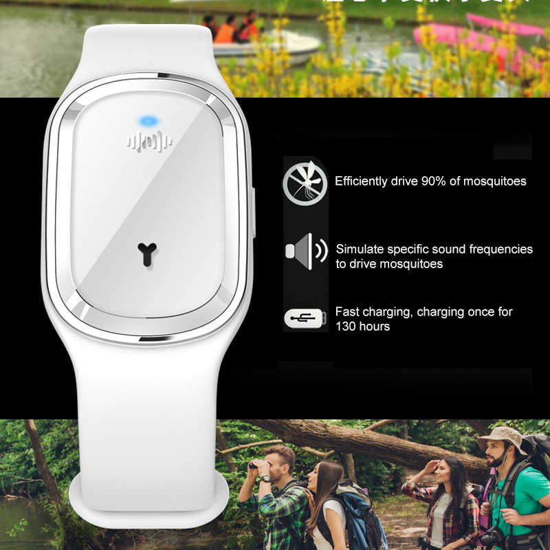 Environmental Protection Ultrasonic Bracelet Pest Insect Bugs Control Mosquito Repellent Wristband for Kids Mosquito Killer