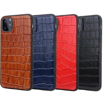 Solque Genuine Leather Crocodile Style Case for iPhone 11/11 Pro/11 Pro Max 5