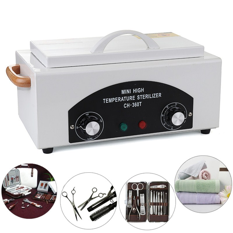 Durable High Temperature Sterilizer Box Nail Art Salon Electric Manicure Nail Tools Sterilizing Tool Dry Heat Sterilizer