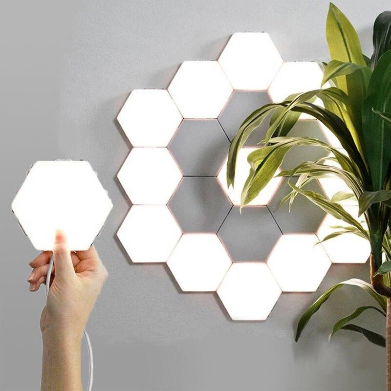 Quantum lamp led modular touch sensitive lighting Hexagonal lamps night light magnetic creative decoration wall lampara