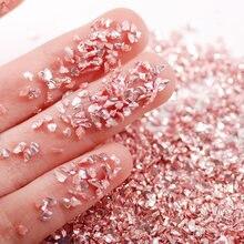 50 г/лот светильник розового цвета аксессуары для ногтей неправильной