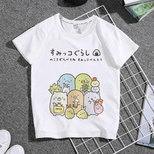 Family T-Shirt Female Summer Hot Cute Cartoon Kawaii Tops Tee Sumikko Gurashi Kid's Women