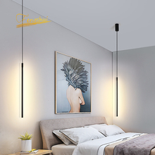 Nowoczesny wisiorek LED światła zawieszone Loft w stylu nordyckim ściemniania lampa wisząca salon lampka nocna do pokoju Hanglamp oświetlenie kuchni oprawy