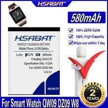 HSABAT 580mAh LQ-S1 بطارية ل ساعة ذكية QW09 DZ09 AB-S1 W8 T8 A1 V8 X6 HLX-S1 KSW-S6 RYX-NX9 KSW-S6 RYX-NX9