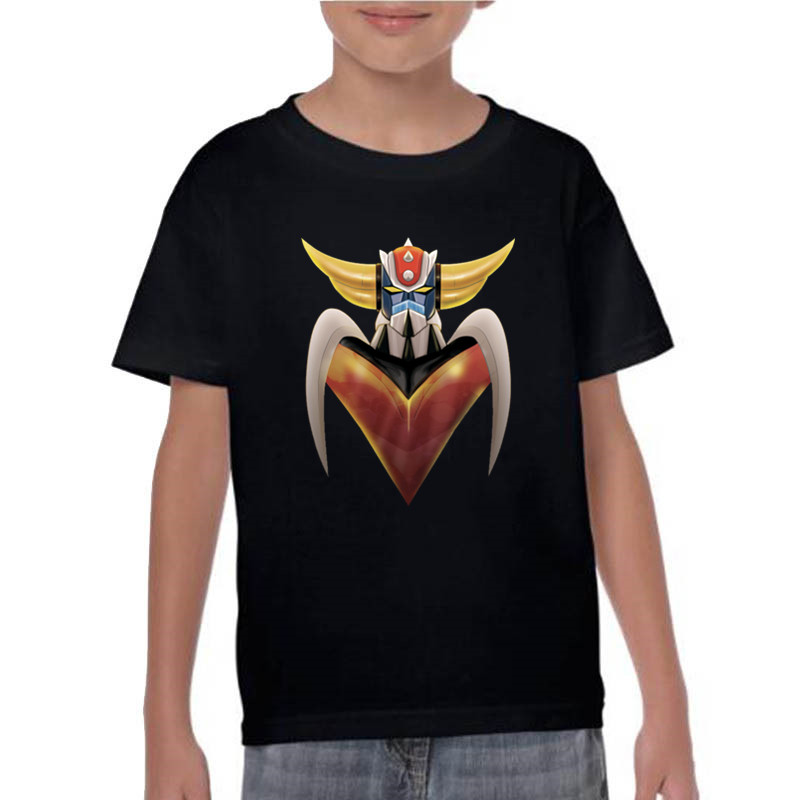 New Custom Short Sleeve Kids Mazinger Z Tshirt 100% Cotton Streetwear Print Fashion T Shirt Ufo RoboT Grendizer Goldorak T-shirt