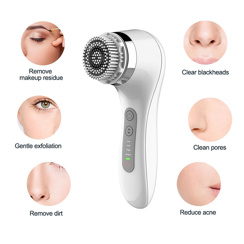 Image 2 - Sonic Rechargeable Powered Facial Cleansing Brush Electric 