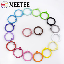 Meetee 30pcs 25mm Colorful Round Metal O D Rings Buckles Keychain Plated Split Alloy Circle Jewelry DIY Decor Craft Accessories