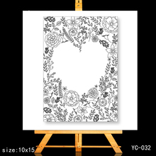 ZhuoAng Love Clear Stamps/Card Making Holiday decorations For  scrapbooking Transparent stamps 10*15cm