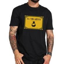 La Villanelle – t-shirt col ras du cou, 100% coton, respirant, doux, basique, taille européenne