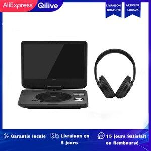 QILIVE LECTEUR DVD портативный BLUETOOTH 10 дюймов + шлем Аудио Портативный DVD плеер