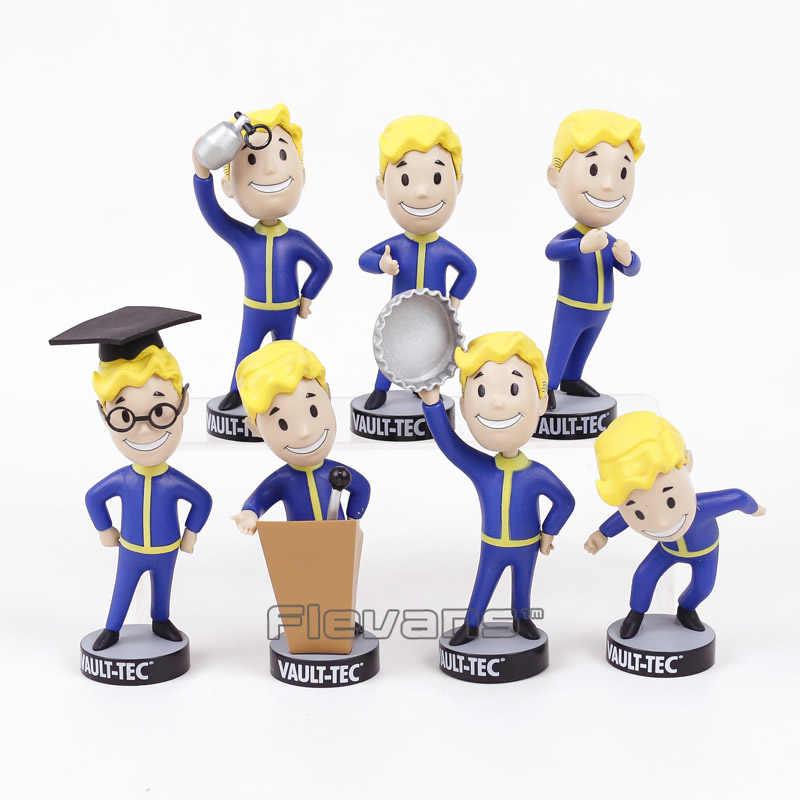 Fallout Vault Boy Bobble kafa bebek PVC Action Figure koleksiyon Model oyuncak Brinquedos 7 stilleri